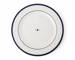 LEXINGTON Assiette plate bleu lot de 4
