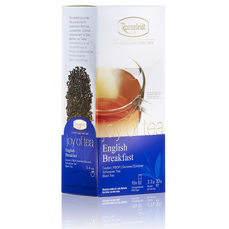 "RONNEFELDT sachet ""JOY OF TEA (leafcup) : thé noir English Breakfast"