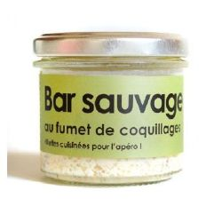 LAtelier du Cuisinier : Rillette de BAR SAUVAGE au fumet de coquillages