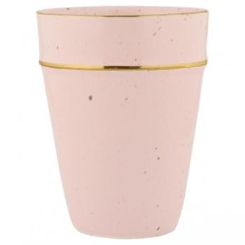 GREENGATE : LATTE CUP PALE PINK avec bordure or
