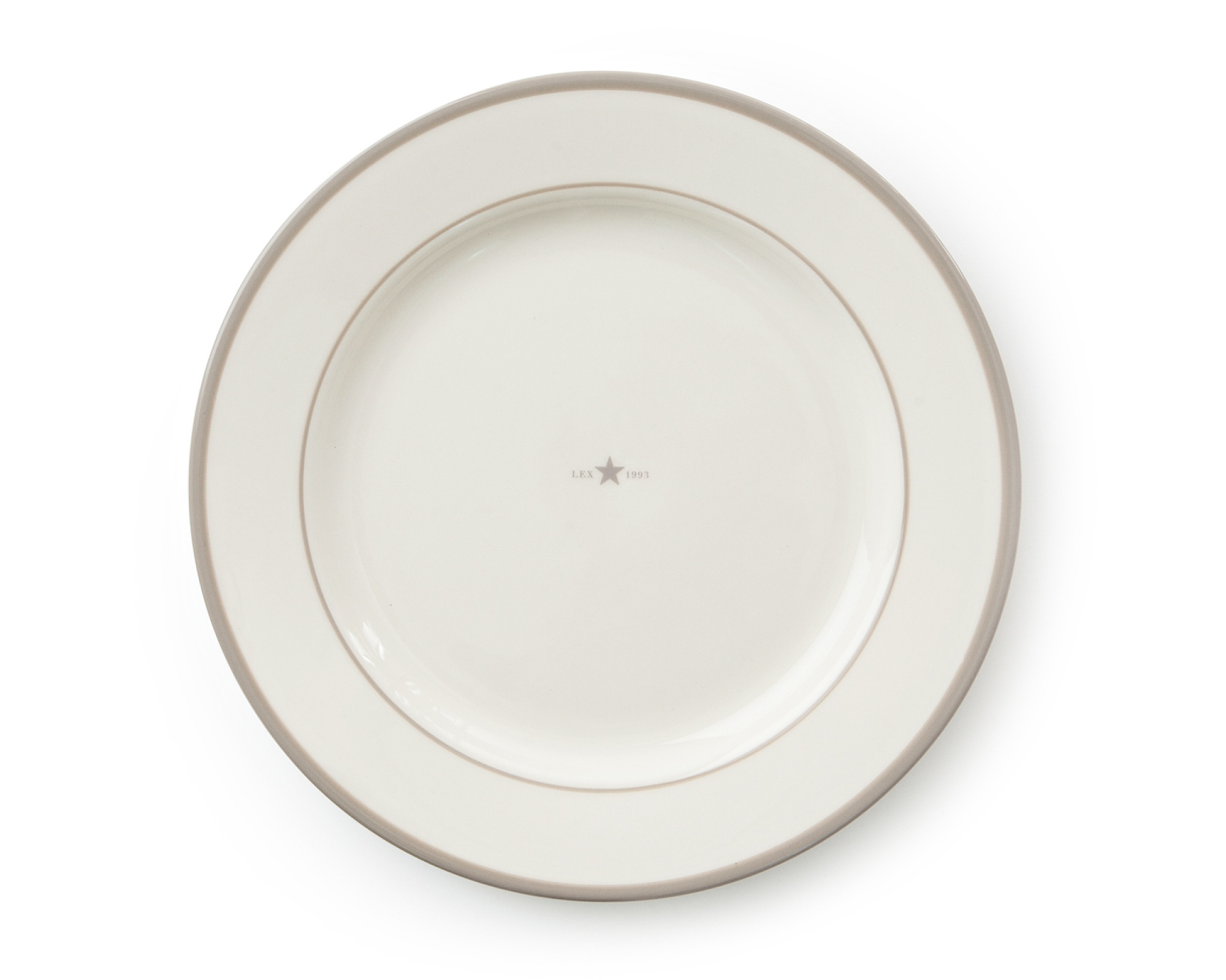 LEXINGTON Assiette Plate beige lot de 4